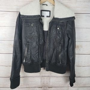 Xhiliration | Dark Brown Leather Jacket